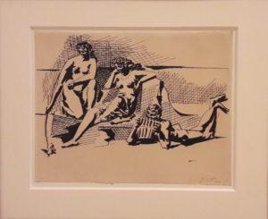 Pablo Picasso: Dwie kobiety i grający na fletni Pana