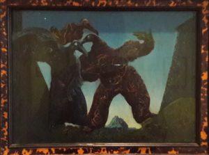 Max Ernst: Somnambuliczni nurkowie albo Barbarzyńcy maszerują na Zachód